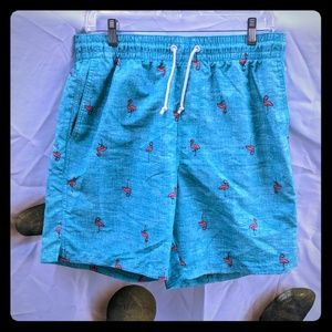 Old navy swimming shorts trunks flamenco aqua M